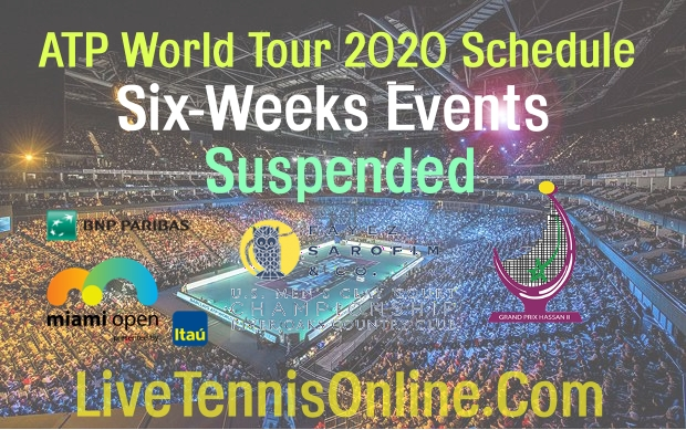ATP suspends 6 weeks tournaments Due to Covid-19