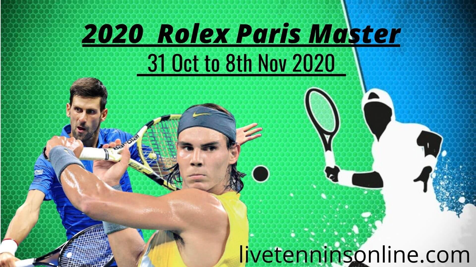 Rolex Paris Masters 2018 Live Stream