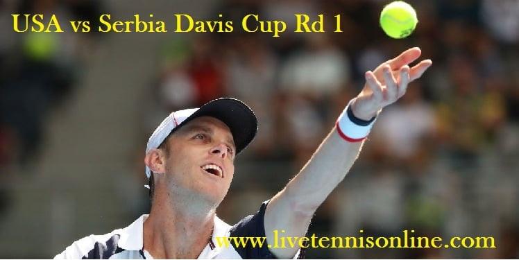 Live USA vs Serbia Davis Cup Online
