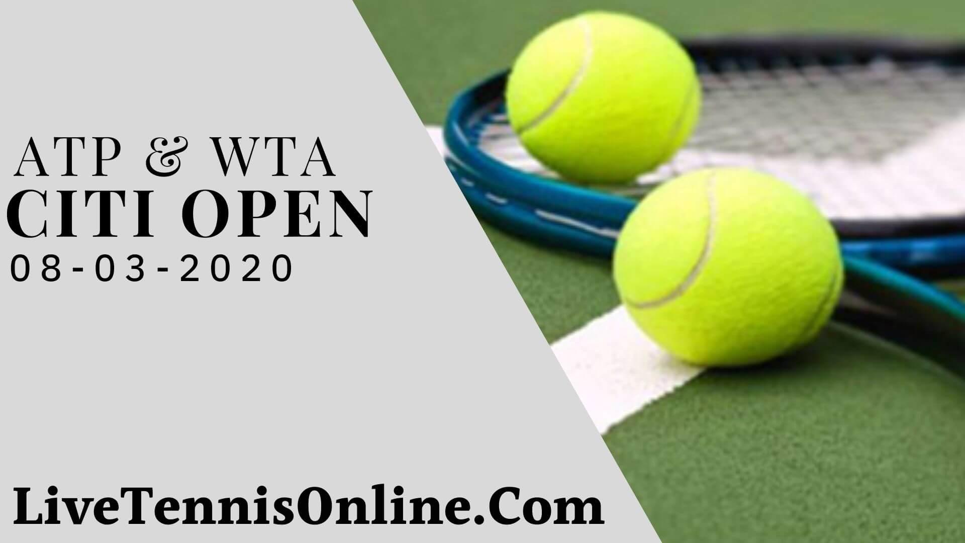 ATP & WTA Citi Open Live Stream 2020   Day 4