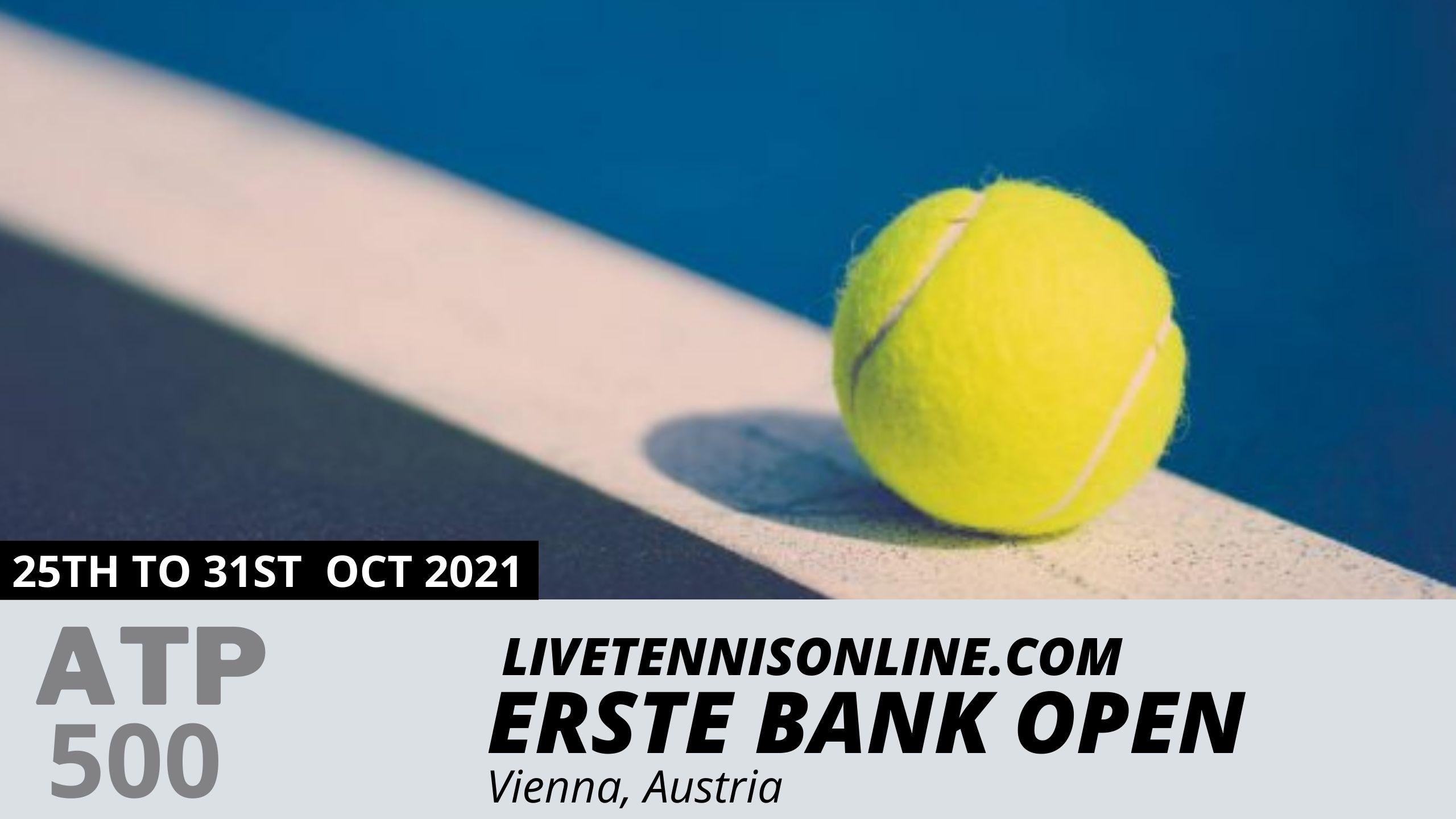 ATP Erste Bank Open Live Stream 2021 | Day 1