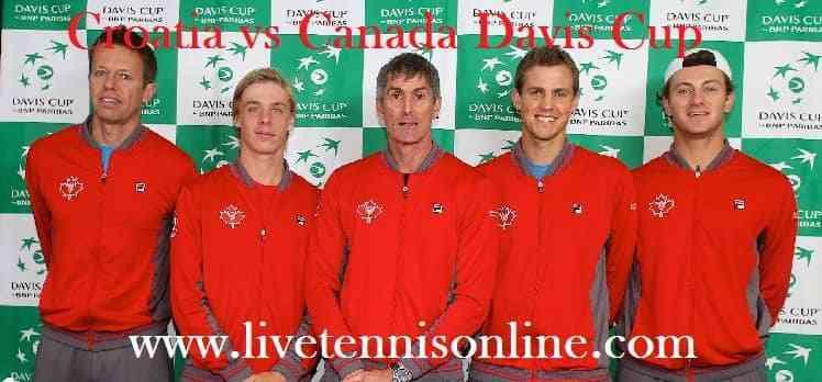 Croatia vs Canada Davis Cup Stream Live