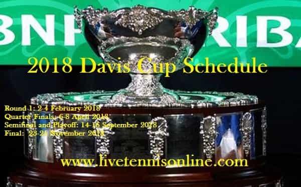 2018 Davis Cup Schedule
