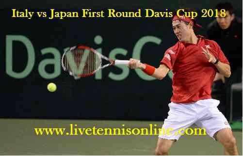 Japan vs Italy Davis Cup Live Stream