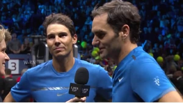 Rafael Nadal and Roger Federer beautiful friendship Moments