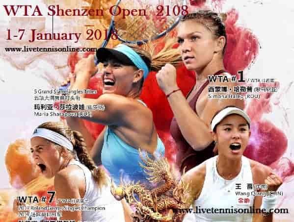 WTA Shenzen Open 2018 HD Live