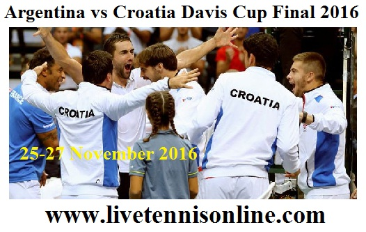 Watch Croatia vs Argentina Davis Cup Final Live