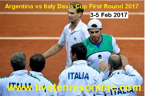 Argentina vs Italy Davis Cup First Round live
