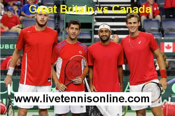 Great Britain vs Canada stream live