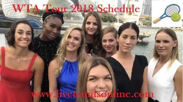 WTA Tour 2018 Schedule